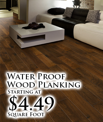 Water Proof Wood Planking starting at $4.49 sq. ft.